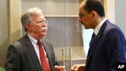 Советник президента США по национальной безопасности Джон Болтон и советник президента Турции Ибрагим Калин. Анкара, Турция. 8 января 2019 г.