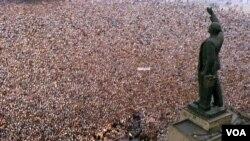 Bakı, Lenin meydanı, 1988-ci il.