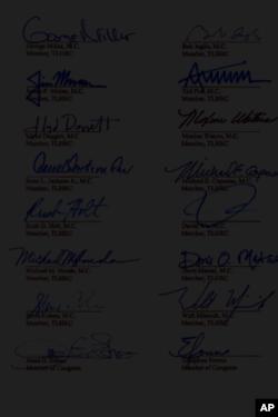 美国国会议员的签名