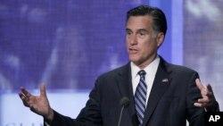 Republican presidential candidate, former Massachusetts Gov. Mitt Romney speaks at the Clinton Global Initiative, September 25, 2012, in New York.