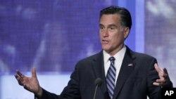 Mitt Romney s'exprimant à l'occasion de la Clinton Global Initiative à New-York