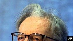 Former Brazilian president Itamar Franco, Sept 14, 2000 (file photo)