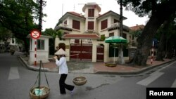 베트남 하노이의 북한 대사관. (자료사진)