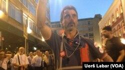 41. protest po redu odžava se u Beogradu, Foto: VOA
