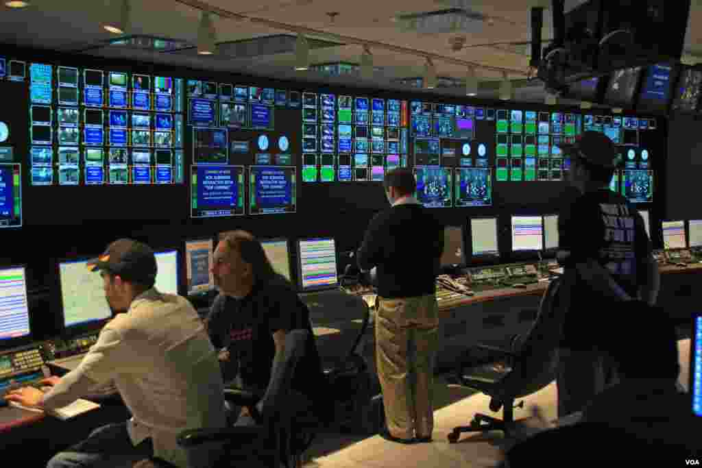 Voice of America's all digital TV master control facility.