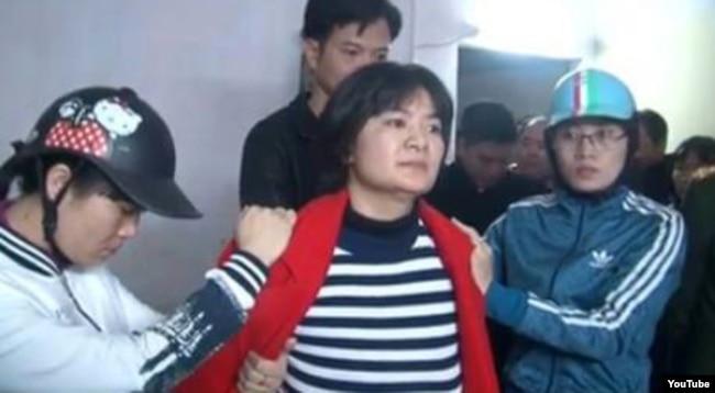Bà Trần Thị Nga bị bắt tại Hà Nam ngày 21 tháng Giêng.