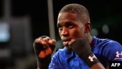 Souleymane Cissokho lors d'un entrainement takes public, France, le 25 septembre 2019.