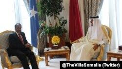 Amiirka Qatar iyo madaxweyne Farmaajo