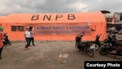 Koordinasi dengan BNPB untuk bantuan kelompok perempuan di Kab Lombok utara (foto: courtesy).