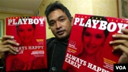 Erwin Arnada, mantan pemred Playboy Indonesia.