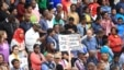 People rally at a peace march against xenophobia in Durban, South Africa, April 16, 2015.