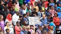 FILE: A peace march against xenophobia takes place in Durban, South Africa, April 16, 2015.