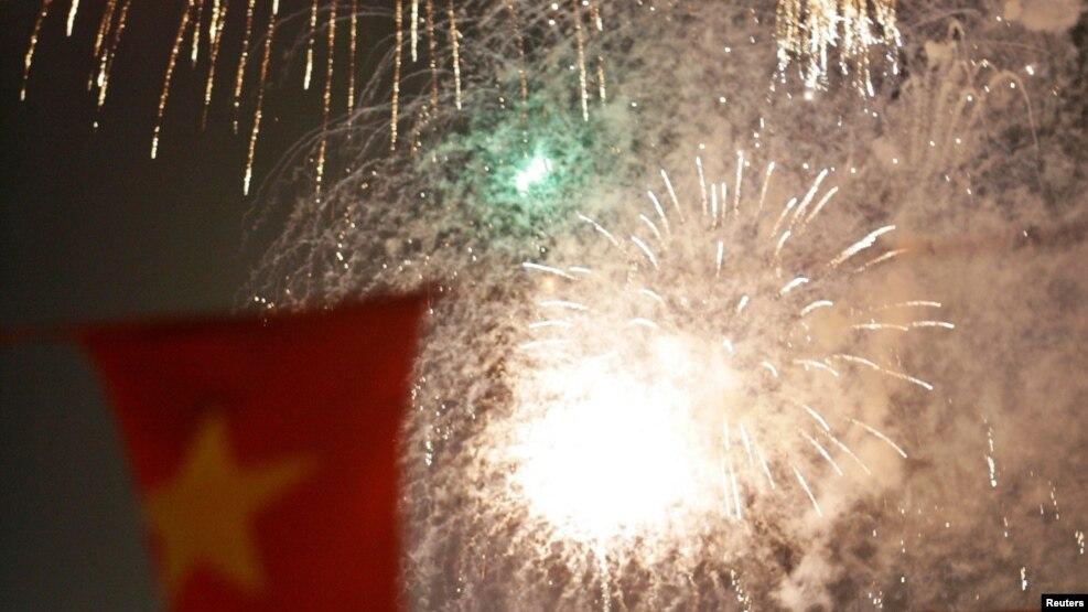 Pháo hoa ở thành phố Hồ Chí Minh nhân kỷ niệm 30 năm ngày kết thúc chiến tranh với Mỹ và các đồng minh. (Ảnh tư liệu)