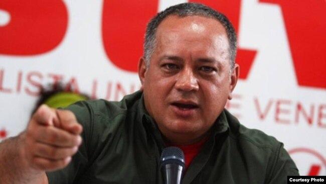 Diosdado Cabello, primer vicepresidente del oficialista Partido Socialista Unido de Venezuela (PSUV). Caracas, marzo 19, 2018. Cortesía: @elnacionalweb.