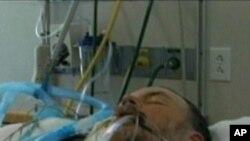 美国一甲流病人在医院护理中