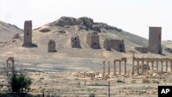 這個星期被伊斯蘭國組織攻下的敘利亞巴爾米拉古城。