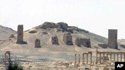 Vista de la antigua ciudad de Palmira, Siria.