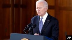 Presidenti Biden duke folur në Universitetin Emory, në Atlanta, Xhorxhia (19 mars 2021)