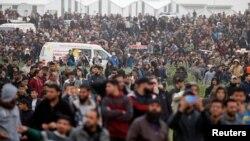 Protest Palestinaca na granici Gaze i Izraela
