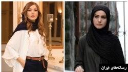 دو تصویر متفاوت از «متین ستوده» (راست) در سریال فاخته و (چپ) در اکران خصوصی فیلم «مسخره باز»