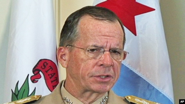 Chairman of the U.S.Joint Chiefs of Staff Admiral Mike Mullen (file photo)