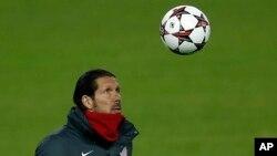 L'entraîneur d'Atletico Madrid, Diego Simeone, 10 décembre 2013.