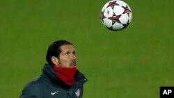 El entrenador Diego Simeone, de origen argentino ha sido el artífice de una buena campaña para el Atlético de Madrid.