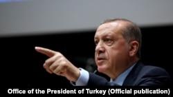 រូបឯកសារ៖ ប្រធានាធិបតីតួកគី Recep Tayyip Erdogan។