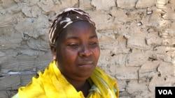 Maria Rachide sobrevivente de um ataque do grupo insurgente em Pemba, Cabo Delgado, Moçambique