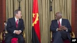 José Eduardo dos Santos com o secretário-geral da ONU, Ban Ki-Moon