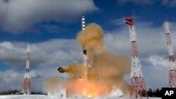 30 Mart 2018, Rusya, Sarmat kıtalararası füze sistemi görüntüleri