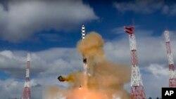 Rusija testira interkontinentalnu balističku raketu Sarma, 1. marta 2018. (snimak Ministarstva odbrane Rusije)