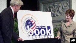 Джеймс Биллингтон и Лора Буш на открытии книжного фестиваля