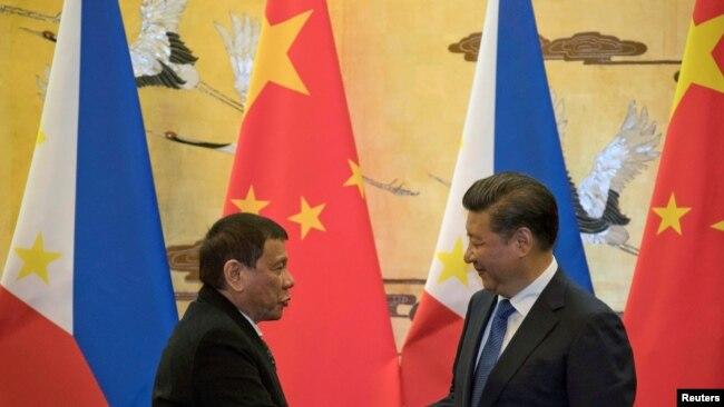 Ông Duterte gặp ông Tập Cận Bình vào tháng 10/2016 tại Bắc Kinh