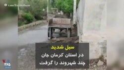 سیل شدید در استان کرمان جان چند شهروند را گرفت