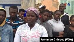 Concentração de protesto na ENDE, Namibe, Angola