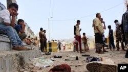 تصویری آرشیوی از یک انفجار در عدن