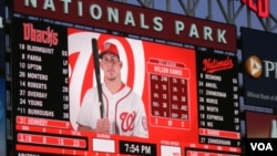 El venezolano Wilson Ramos de 27 años es receptor de los Nacionales de la capital de Estados Unidos en las Ligas Mayores de Béisbol.