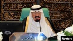 沙特阿拉伯国王阿卜杜拉。