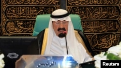 FILE - Saudi Arabia's King Abdullah
