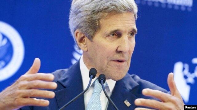 Ngoại trưởng Mỹ John Kerry phát biểu tại trường Đại học ở Singapore, ngày 4/8/2015.