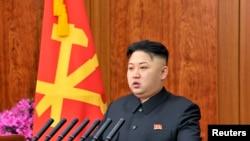 ေျမာက္ကိုရီးယားေခါင္းေဆာင္ Kim Jong Un (ဇန္န၀ါရီလ ၁ ရက္၊ ၂၀၁၃)။