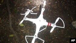 Bức ảnh do Cơ quan Mật vụ Hoa Kỳ cung cấp cho thấy chiếc máy bay không người lái rơi trong khuôn viên Tòa Bạch Ốc trong thủ đô Washington hôm 26/1/15