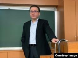 位于台北的文化大学国贸系兼任助理教授黄健群(照片提供:黄健群)