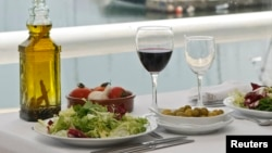 Food on a table at a restaurant at the port of El Masnou, near Barcelona, (undated file photo).
