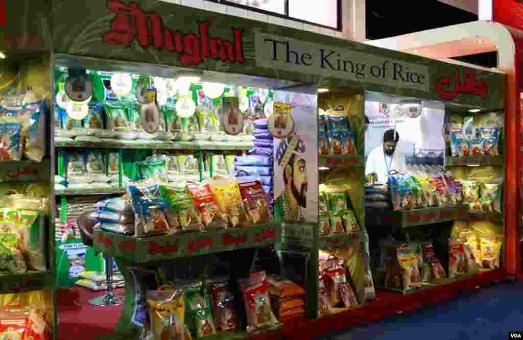 نمائش میں موجود چاول کا ایک اسٹال