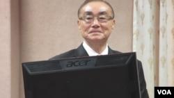 台灣國防部長馮世寬(美國之音張永泰拍攝)