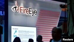 """美國網絡安全公司""""火眼""""(FireEye)在拉斯維加斯黑帽網絡安全會議的活動上。"""