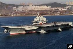 中国的唯一一艘航母辽宁号