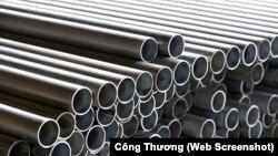 Ống thép carbon nhập từ Việt Nam bị khiếu nại bán phá giá ở thị trường Canada.